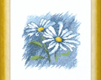 Cross Stitch Kit Flowers 3