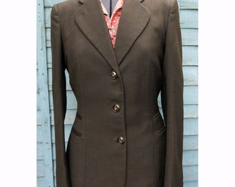 1940s Ladies Fitted Brown Jacket by Hepworths Bust 36