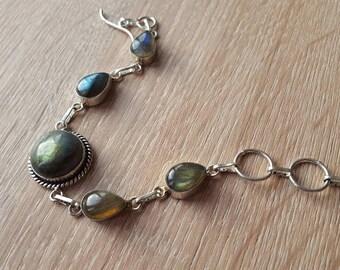 """Natural Labradorite Bracelet Fashion Jewelry, Fashion Bracelet  Gemstone Bracelet / Handmade Jewelry 8.4"""""""