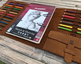 Leather Sketchbook // Custom Sketchbook // Refillable Sketchbook // Drawing Book // Leather Drawing Book