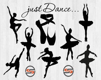 Ballet Dancer svg cut file, ballet slippers svg, Ballet shoes, Just Dance, Ballarina SVG, Instant Download, Transparent, silhouette, cricut