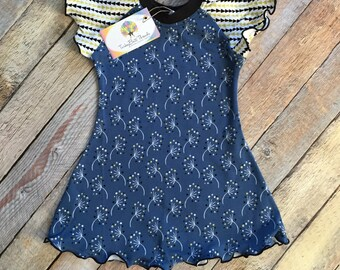 "Organic Cotton ""Dandelions"" Flutter Dress"