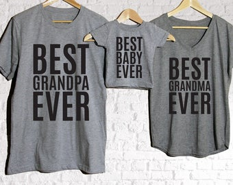 Best Grandpa Ever, Best Grandma Ever, Best Baby Ever, Baby shower gift, Mothers day gift, Anniversary Gift, Family Photos, New Family Gift
