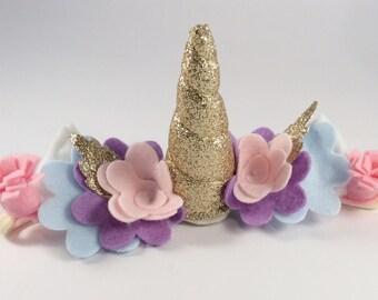Rainbow baby unicorn costume - bubbly