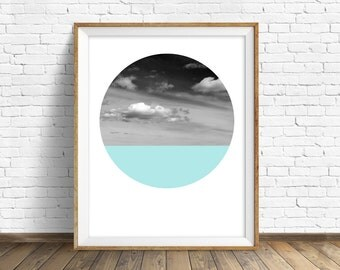 "nature photography, large art, large wall art, printable art, instant download printable art, landscape prints, round photos - ""Open Skies"""