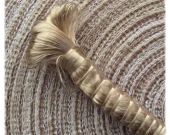 2 spools of Golden beige silk threads