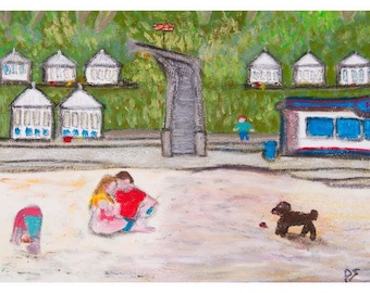 The Beach, Greeting Card