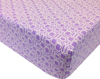 reg. price 26.00 Squares Lavender Crib Sheet