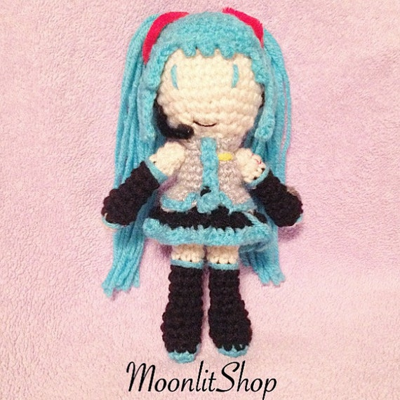 Vocaloid Inspired Crochet Hatsune Miku by MoonlitShopPatterns