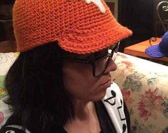 Longhorn crocheted cap