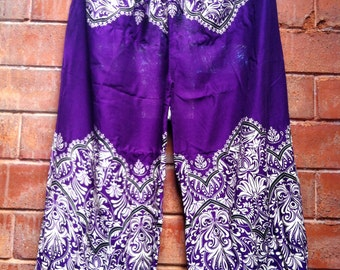 Sale! Cotton Pants Comfortable Yoga VIOLET Handmade Thailand