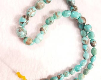 8-12MM Mexican campitus Natural Turquoise Smooth Nugget shape , Turquoise Necklace , Smooth Nugget