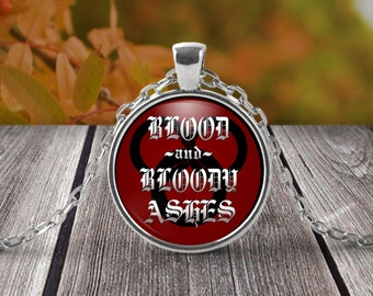 Wheel of time inspired Necklace - Blood and Bloody Ashes