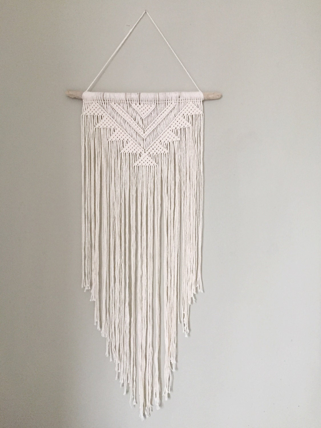 Handmade macrame wall hanging wall decor boho chic wall art for Small wall art