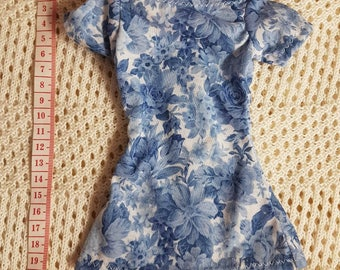 CLEARANCE blue floral top for SD Dollfie Dream