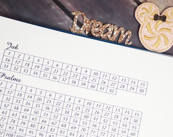 This is a photo of Old Fashioned Bible Reading Tracker Printable