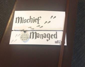 Harry Potter Gift Mischief Managed Bracelet