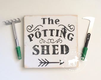 Gardening Sign // Potting Shed // Potting Shed Sign // Wood garden sign