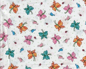 Butterflies - Per Yd - Mary Engelbreit -Quilting Treasures - on white