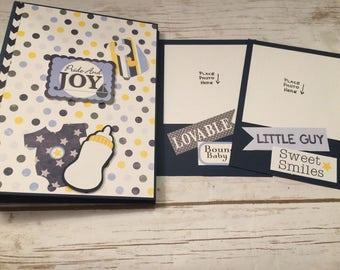 Premade Pride & Joy Baby Boy Photo Album/ Baby Album/Baby Scrapbook