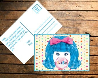 Instant Download Hairspray Thank You Cards