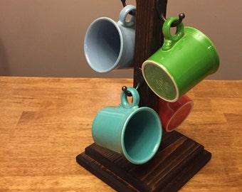 4 Hook Coffee Mug Rack, Coffee Mug Rack, Coffee Mug Tree, Mug Stand, Mug Holder, Cup Tree, Cup Stand, Cup Holder