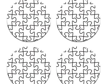 A pack of 4 jigsaw puzzle design Pattern weights Ideal for weighing down patterns on delicate fabrics no need for pins