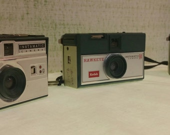 Vintage 1960s Kodak Hawkeye Instamatic Pocket Camera - Set of 3 Vintage Cameras