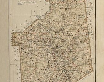 1895 Map of Lewis County New York