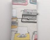 Vintage, Typewriters Fabric Fauxdori, Midori-style cover, traveler's notebook, dori, type