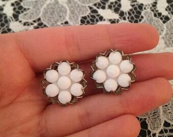 Bridal Earrings 2017 - Rustic Earrings - Wedding Jewelry - Vintage - Earrings - White Earrings - Botanical Earrings - Boho Earrings