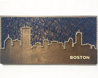 Boston Back Bay Skyline String Art - Boston Art - Massachusetts Art