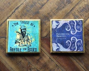 Harry Potter Coasters - Hogwarts Library Set of 2