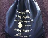 AKF because #YouMatter! Navy Cinchpack