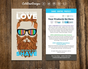 Rodan and Fields Cards / Beyond The Shave / Instruction Card