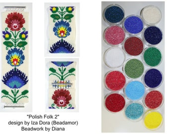 Polish Folk 2 by Beadamor beaded bracelet kit (pattern sold separately)