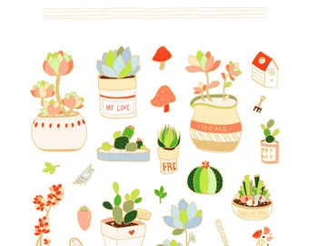 Succulents Printable {Gold + Brown}