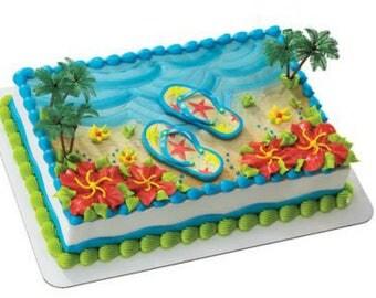 Summer Flip Flops Beach cake decoration Decoset cake topper set
