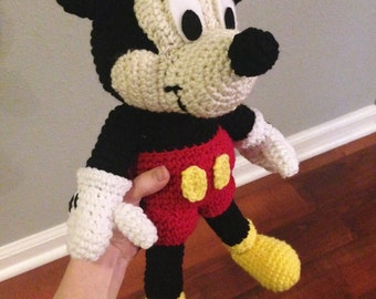 Mickey Mouse inspired doll, Crochet Mickey, Mickey Mouse, gift, birthday, Christmas, baby, child