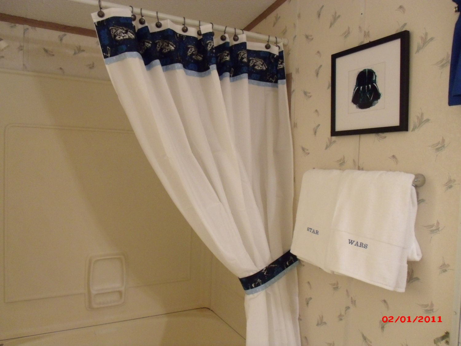 Stars wars shower curtain and towel set by bigcreekcottage on etsy