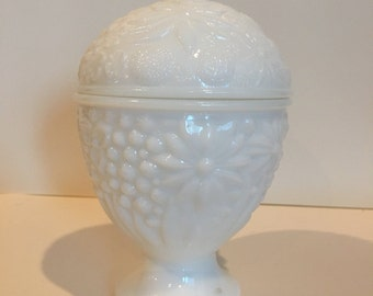 Vintage Milkglass dish with lid
