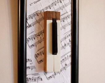 Framed Piano Keys - Gymnopédie no. 1