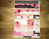 February Vertical and Horizontal Monthly Calendar View Planner Stickers for Erin Condren LifePlanner
