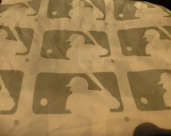 mlb gray and white logo twin single flat sheet cutter crafter diy