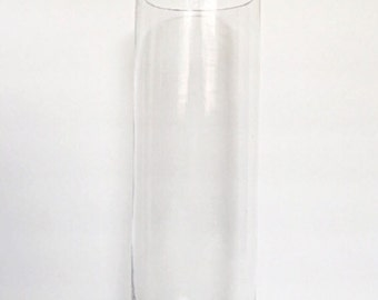 "Set Of (12) 12"" Tall Cylinder Glass Vases,Wedding Centerpiece,Tall Vases,Glass Vases,Tall Centerpieces, Tall Wedding Vases, Cylinder Vase."