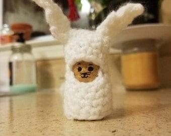 Crochet cork dolls