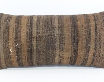 12x24 brown kilim pillow decorative kilim pillow anatolian kilim pillow sofa pillow turkish kilim pillow anatolian kilim pillow SP2560-699