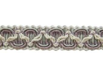 "2 3/4 yds of Conso 3/4""  Gimp Braid - Lavender, Mint & Ivory"
