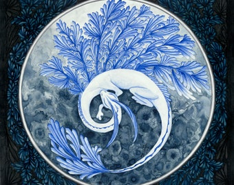 Ice Dragon, Framed original