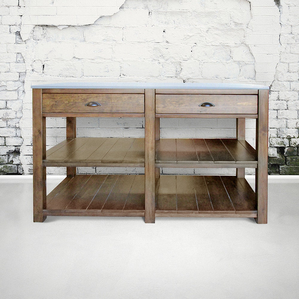 Kitchen Island Table Reclaimed Wood Handmade Rustic